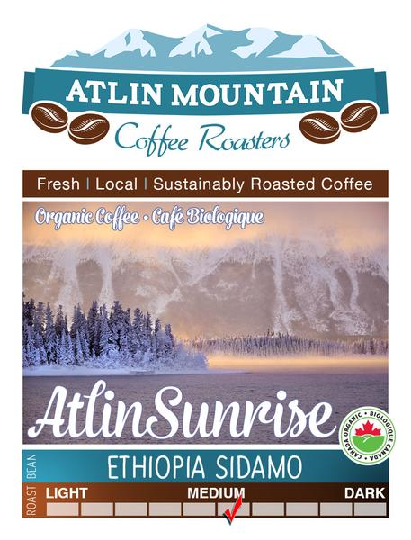 Atlin Sunrise Organic Coffee Beans - Ground - 400 grams