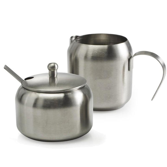 Cafe Culture Cream & Sugar Set, Stainless Steel