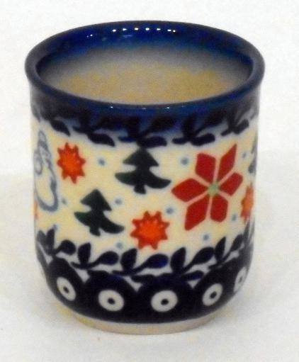 Shot Glass, Round, Holly & Reindeer