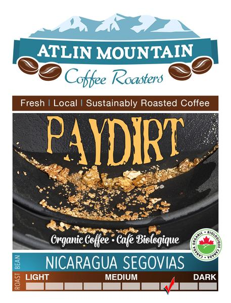 Paydirt Organic Coffee Beans - Ground - 400 grams