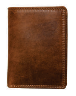 Rugged Earth Leather Wallet, Style 990007