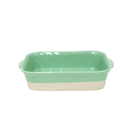 Fattoria Small Rectangular Baker, Jade