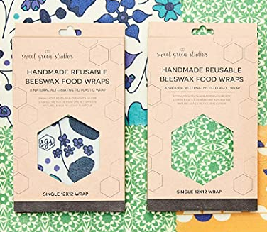 Handmade Reusable Beeswax Food Wrap - Single 12x12