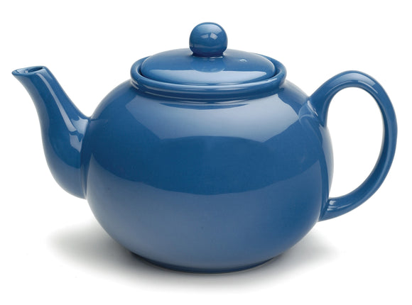 Stoneware Teapot 42oz, Light Blue