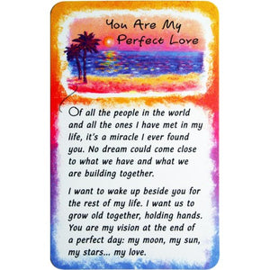 """My Perfect Love"" Wallet Card"