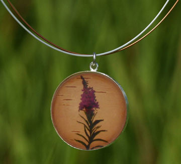 Birch Dreams Fireweed Necklace