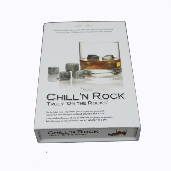 Chill'n Rocks Whisky Stones 9Pc Set