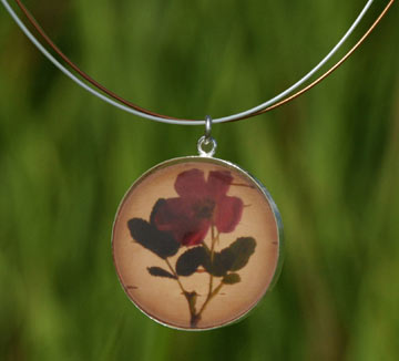 Birch Dreams Wild Rose Necklace