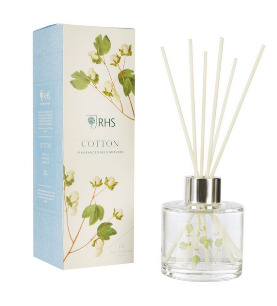 RHS Fragrant Garden Reed Diffuser, 100ml - Cotton