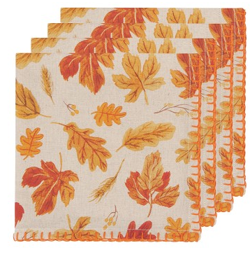 Autumn Harvest Napkins, Set/4