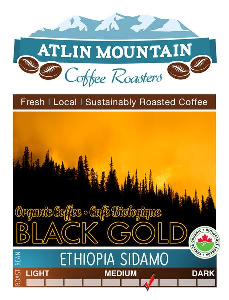 Black Gold Organic Coffee Beans - Ground - 400 grams