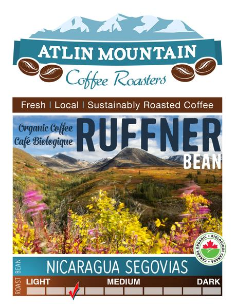Ruffner Organic Coffee Beans - Whole - 400 grams