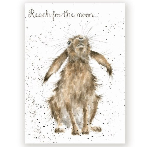 Encouragement Card, Reach For The Moon