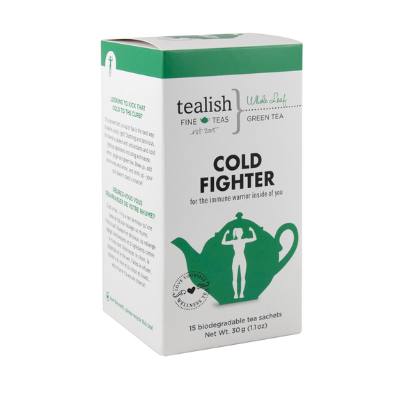 Tealish Cold Fighter Tea Box, 15 sachets/30g/1.1oz