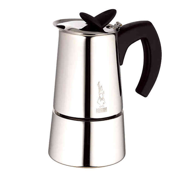 Musa Espresso Maker, Stainless Steel 6 Cup