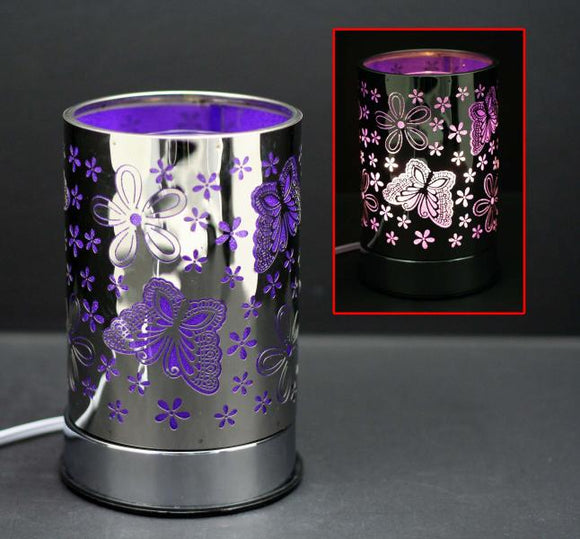 Touch Sensor Lamp - Silver Flower