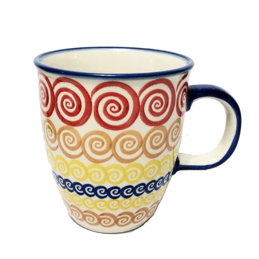 10oz Bistro Mug, Red Swirl