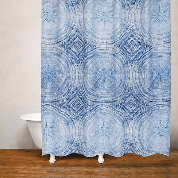 Tree Rings Shower Curtain, 71x71