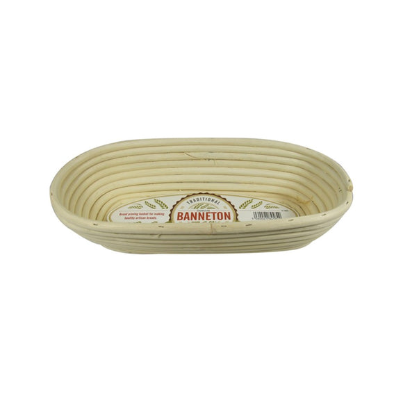 Banneton Bread Proofing Basket, Oval 29x13x7.5cm