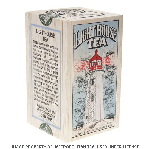 Wood Box, Lighthouse Black Tea, 25 Teabags