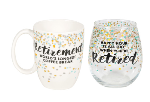 ONIM Retired Mug And Glass Set