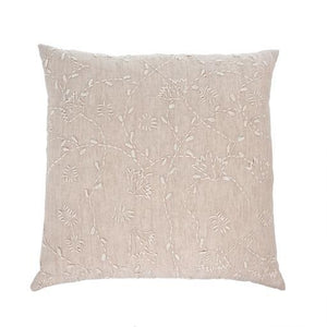 Linen Vines Cushion, 20x20""