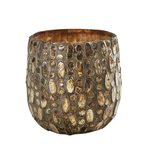 Park Designs Mosaic Glass Candle Holder, Bronze