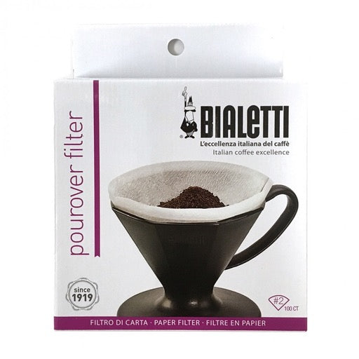 Paper Pourover Coffee Filter, 100/pkg, #2 Cone