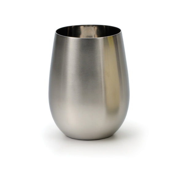 RSVP Stemless Wine Glass, Stainless Steel