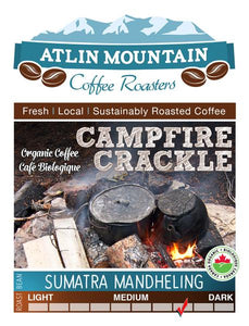 Campfire Crackle Organic Coffee Beans - Whole - 400 grams