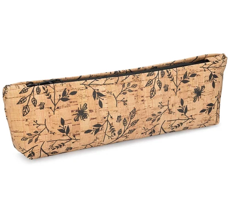 Be Organized Rustic Cork Pencil Case w/ Floral Print