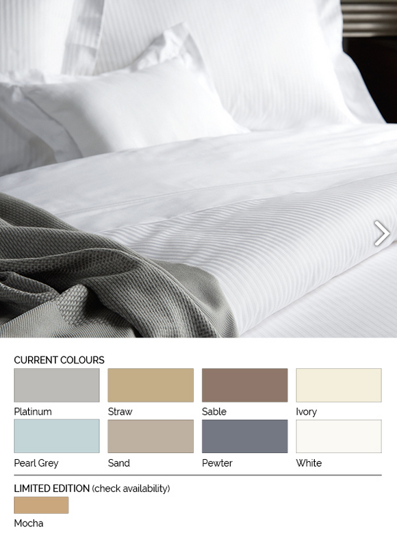 Savoy Stripe Mocha King Duvet Cover Set