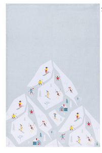 Alpine Print Tea Towel, 18x28""