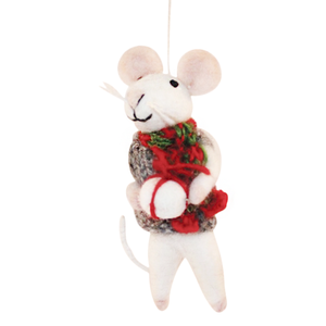 Ornament, Mouse w/Christmas Scarf