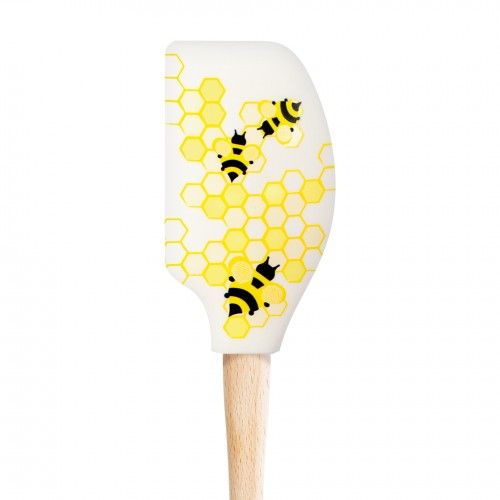 Tovolo SpatulArt - Honeybee Spatula, Wood Handle