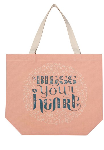 Bless Your Heart Tote Bag, 18x15