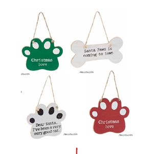 Holiday Wood Pet Ornament, Asst'd