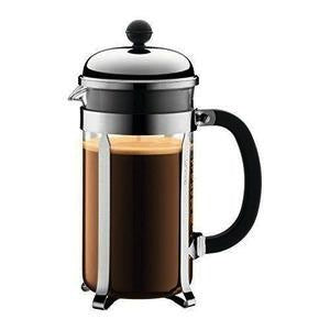 Chambord French Press Coffee Maker, 8 Cup/1L , Matte Finish Chrome