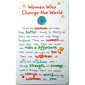 """Women Who Change The World"" Wallet Card"