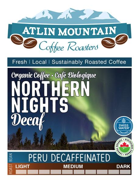 Northern Nights Decaf Organic Coffee Beans - Whole - 400 grams