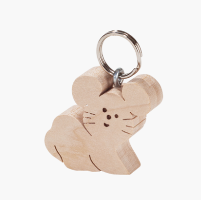 Maple Key Ring, Mouse 5cm