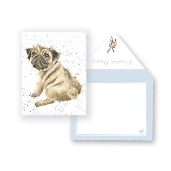 Wrendale Mini-Card, Pug Love