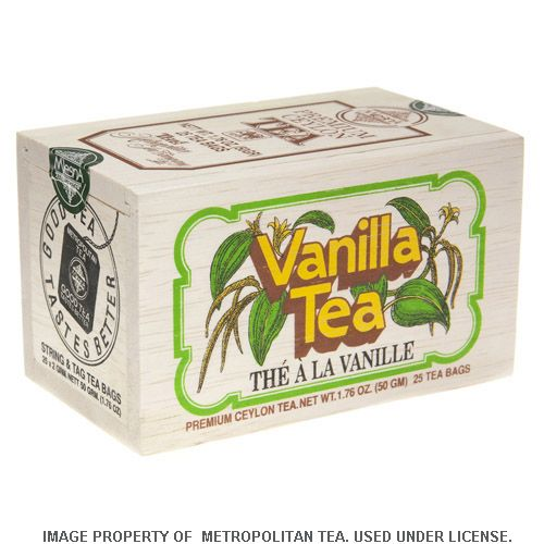 Wood Box, Vanilla Black Tea, 25 Teabags