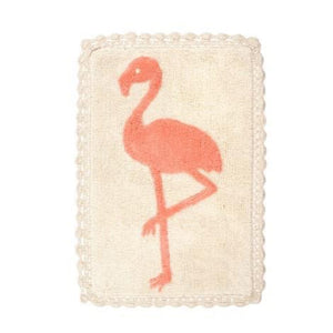 Flamingo Crochet Bath Mat, 20x30""