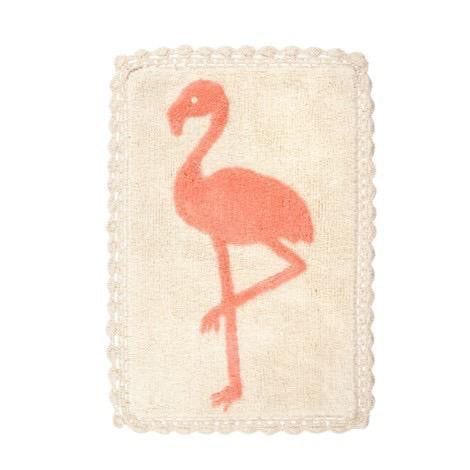 Flamingo Crochet Bath Mat, 20x30