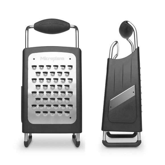 Microplane Four-Sided Professional Box Grater, Stainless Steel