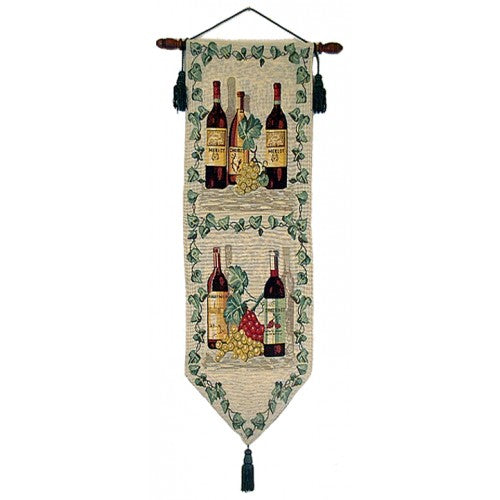 Tapestry Wall Hanging Large, Wine Bottle