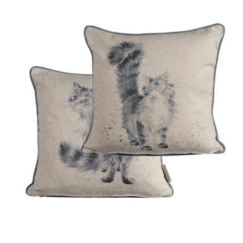 Wrendale Cushion, Lady Of The House, Cat 16x16