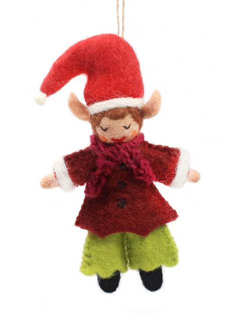 Elfie The Elf Felt Ornament