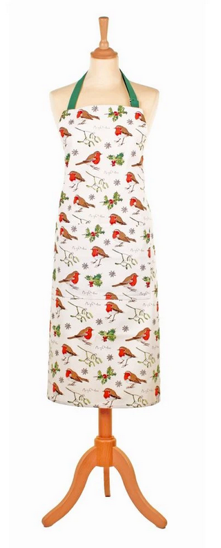 Ulster Weavers UK Cotton Apron, Robins & Holly